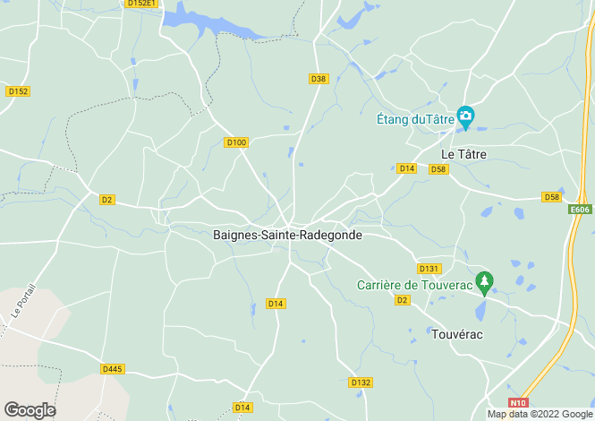 Map for baignes-ste-radegonde, Charente, France