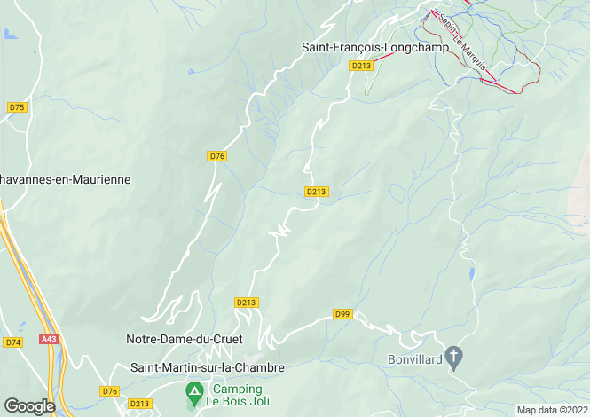 Map for st-francois-longchamp, Savoie, France