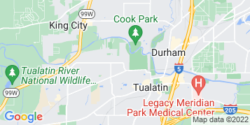 Tualatin Gutter Cleaning map
