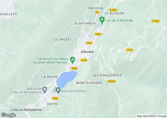Map for Allevard, Isère, Rhone Alps