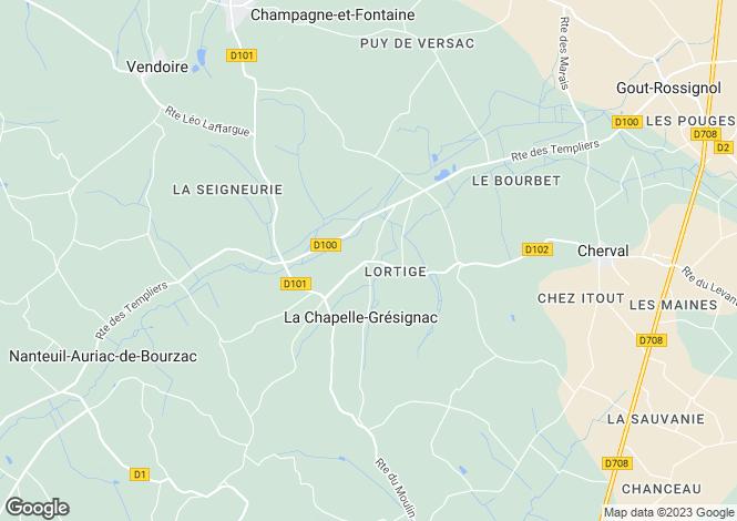 Map for Secteur: La Chapelle-Gresignac, Dordogne