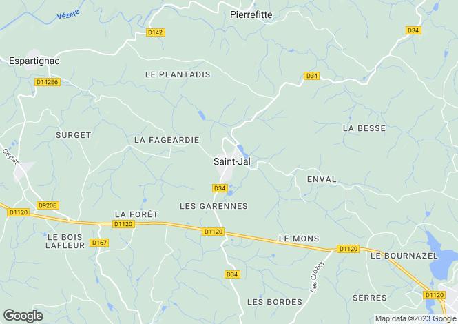 Map for Saint-Jal, 19700, France