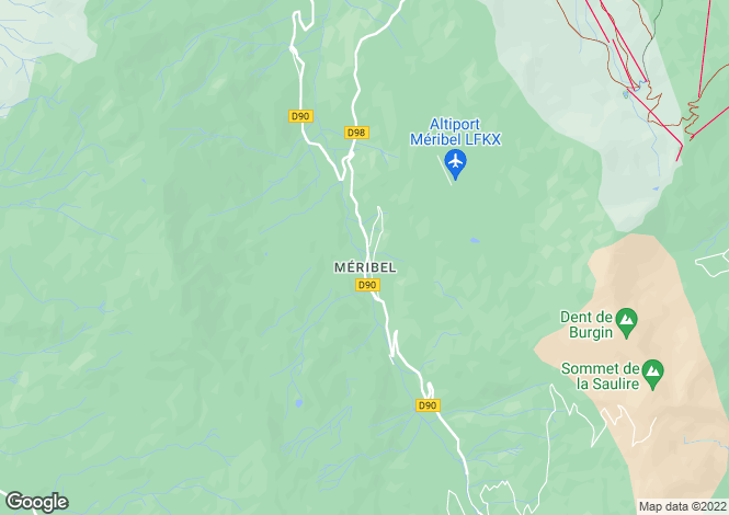 Map for meribel-les-allues, Savoie, France