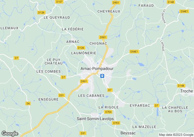 Map for Secteur: Brive, Corrèze
