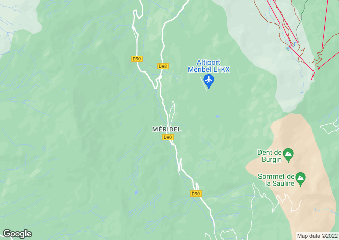 Map for Méribel, Méribel, French Alps
