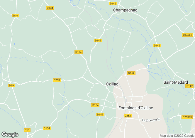Map for Proche/Near Jonzac, Charente Maritime