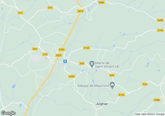 Map for st-amant, Charente, France