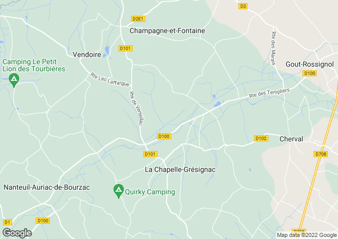 Map for la-chapelle-gresignac, Dordogne, France