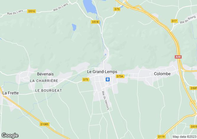 Map for le-grand-lemps, Isère, France