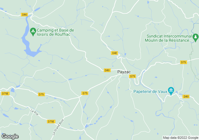 Map for Payzac, Aquitaine, France