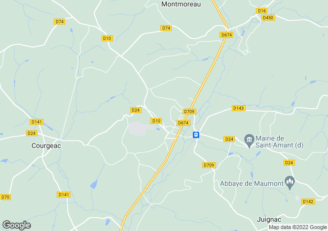 Map for montmoreau-st-cybard, Charente, France