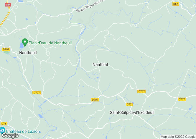 Map for nanthiat, Dordogne, France