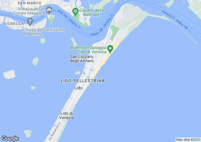 Map for Lido, Venice, Veneto
