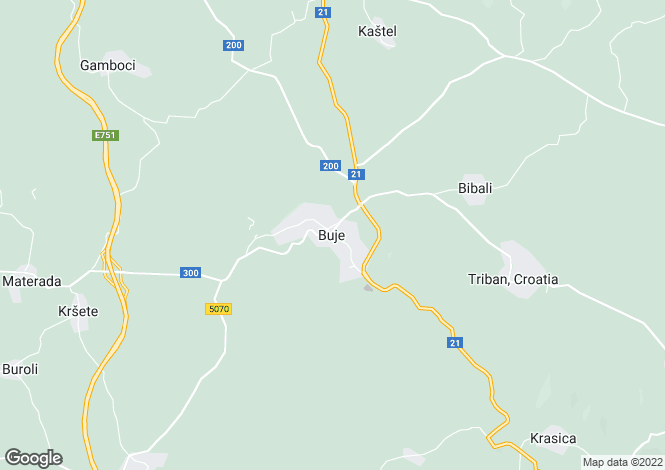 Map for Buje, Hrvatska, Croatia