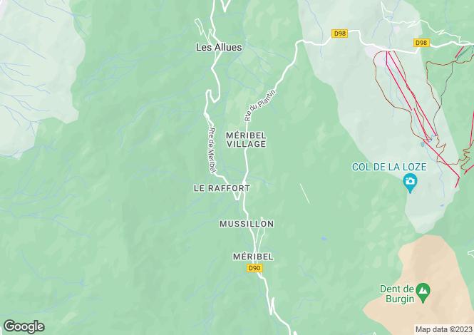 Map for Superb Chalet, Vallee de Meribel