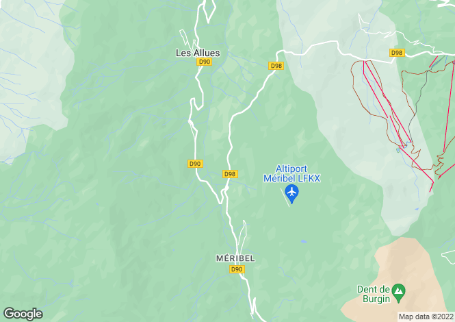 Map for Méribel, French Alps
