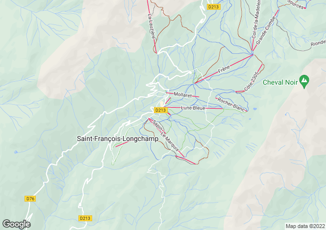 Map for St-François-Longchamp, Savoie, Rhone Alps