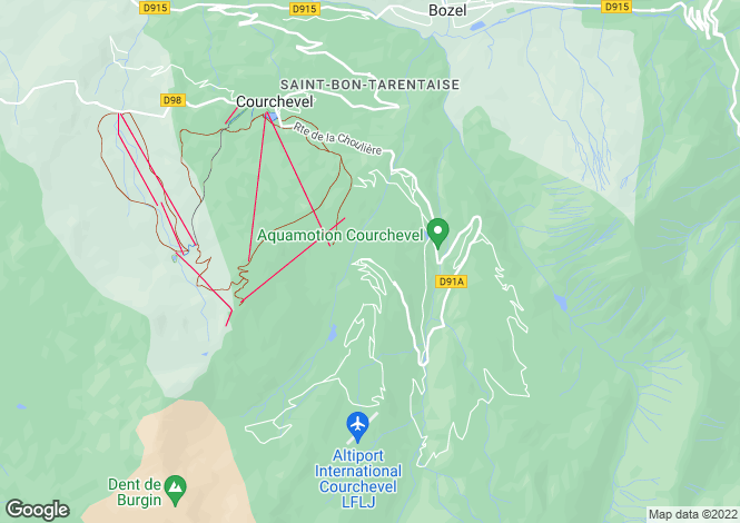 Map for Centre Courchevel, French Alps