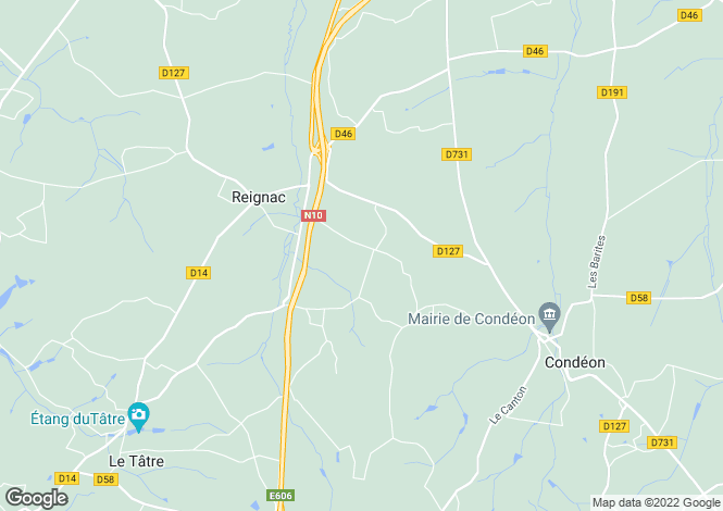 Map for barbezieux, Charente, France