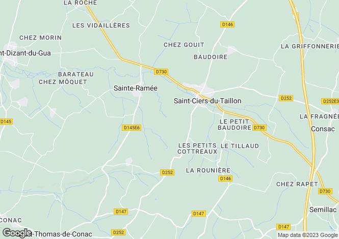Map for St-Ciers-du-Taillon, Charente-Maritime, Poitou-Charentes