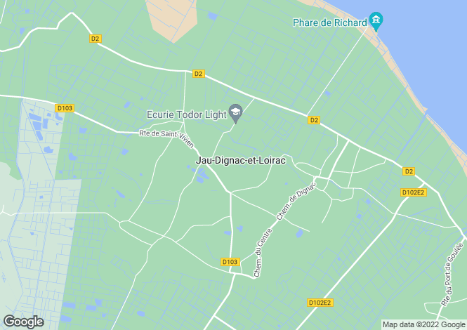 Map for jau-dignac-et-loirac, Gironde, France