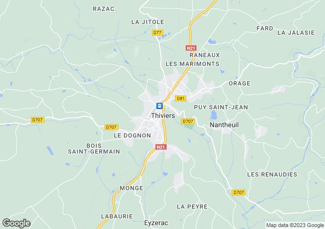Map for Secteur: Thiviers, Dordogne