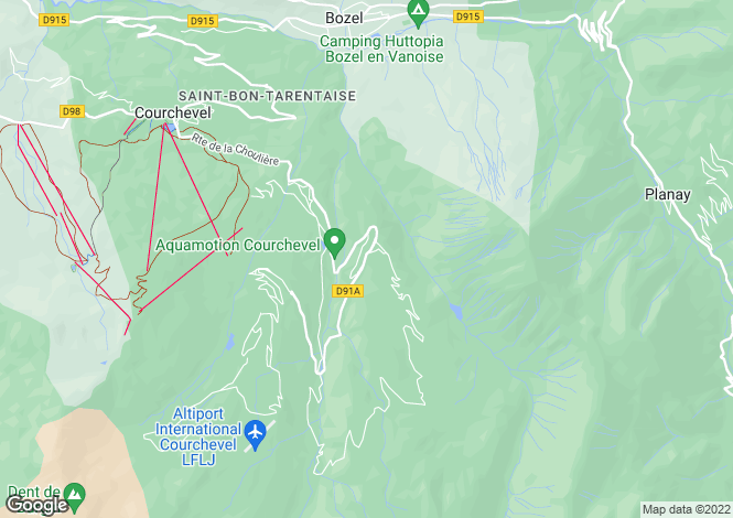 Map for Courchevel, Savoie, Rhone Alps