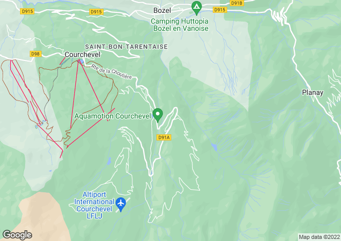 Map for Apartment In Popular Area, Courchevel 1650