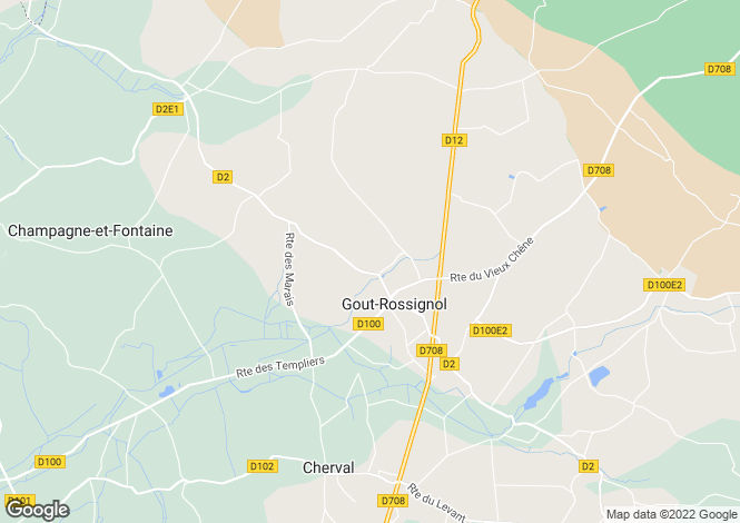 Map for Aquitaine, Dordogne, Gout-Rossignol
