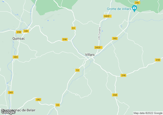 Map for villars, Dordogne, France