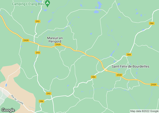 Map for Proche / Near Monsec, Dordogne
