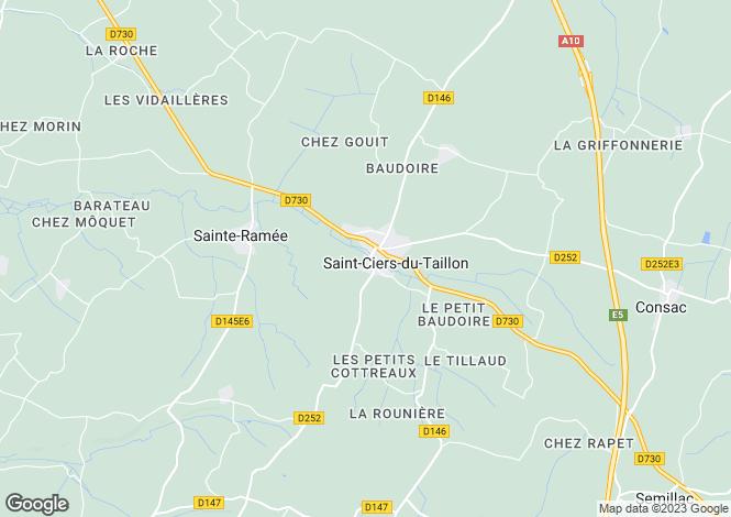 Map for Proche/Near Mirambeau, Charente Maritime