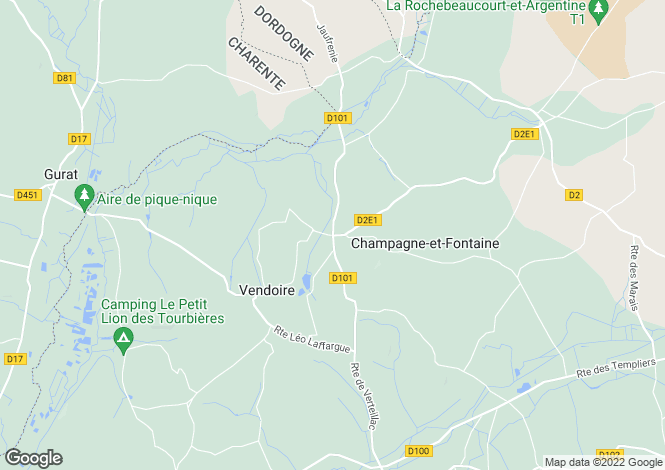Map for champagne-et-fontaine, Dordogne, France