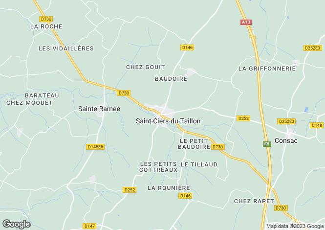 Map for Secteur: Saint Ciers du Taillon, Charente-Maritime