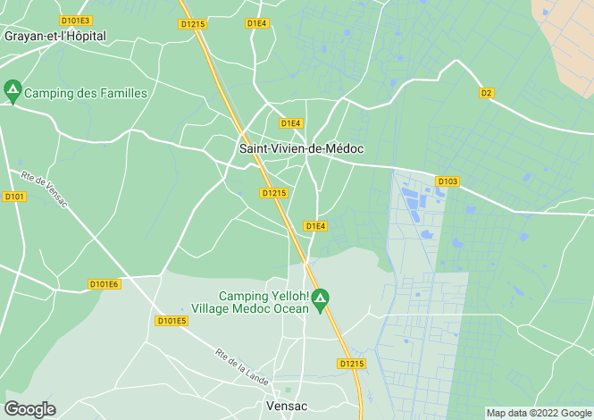 Map for st-vivien-de-medoc, Gironde, France