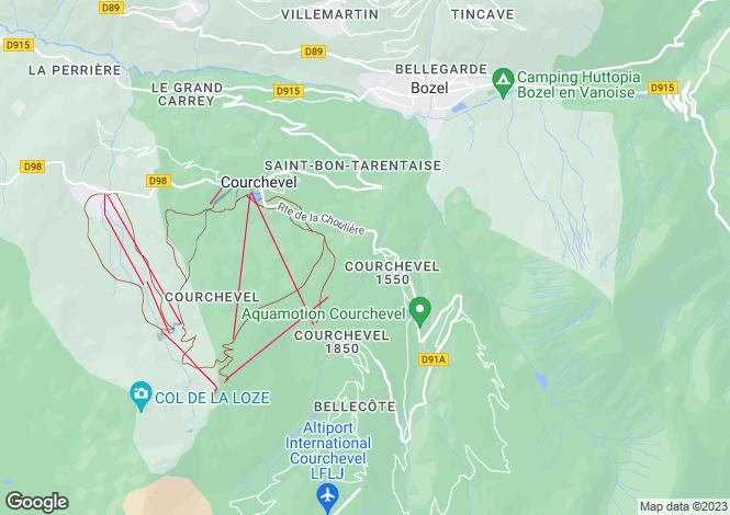Map for Rhone Alps, Savoie, Courchevel