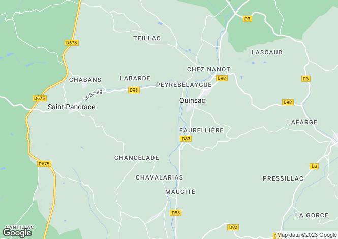 Map for Brantome, Dordogne, 24530, France