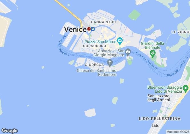 Map for Veneto, Venice, Giudecca