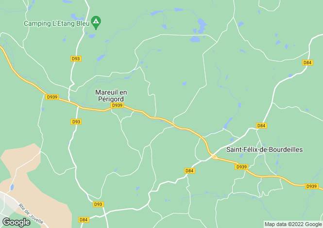 Map for monsec, Dordogne, France