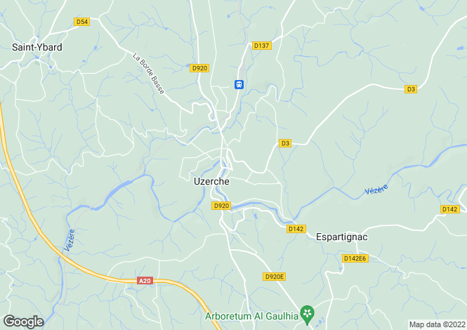 Map for uzerche, Corrèze, France