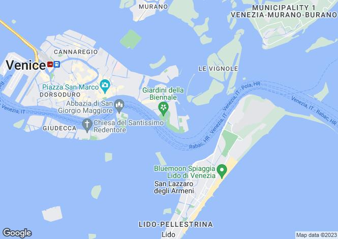 Map for Venezia, Venice, Veneto