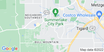 Tigard Gutter Cleaning map