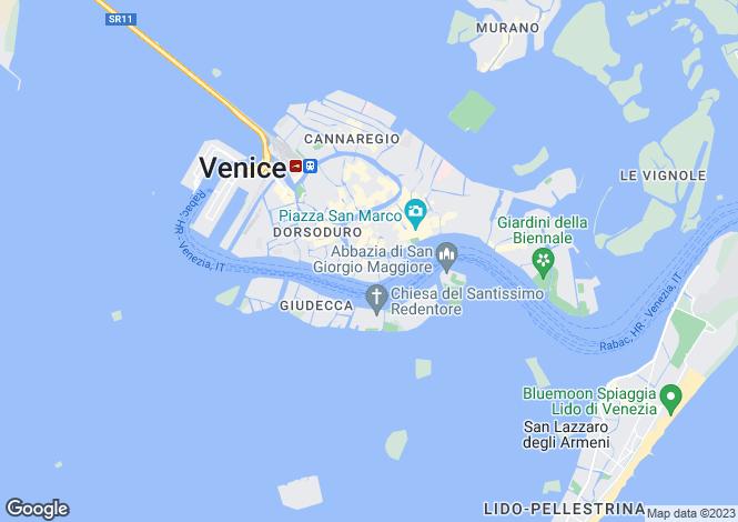 Map for Veneto, Venice