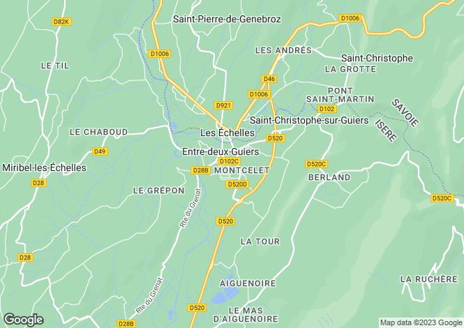 Map for entre-deux-guiers, Isère, France