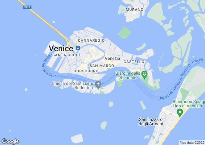 Map for Italy - Veneto, Venice, Venice