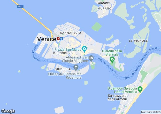 Map for Italy - Veneto, Venice, Venice