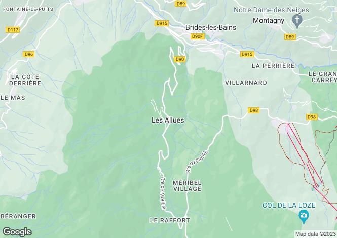 Map for Modern Savoyard Chalet, Les Allues, Vallee de Meribel