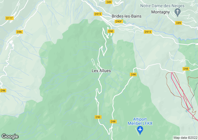 Map for les-allues, Savoie, France