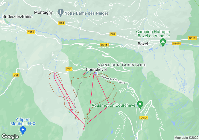 Map for Le Praz, Courchevel, French Alps
