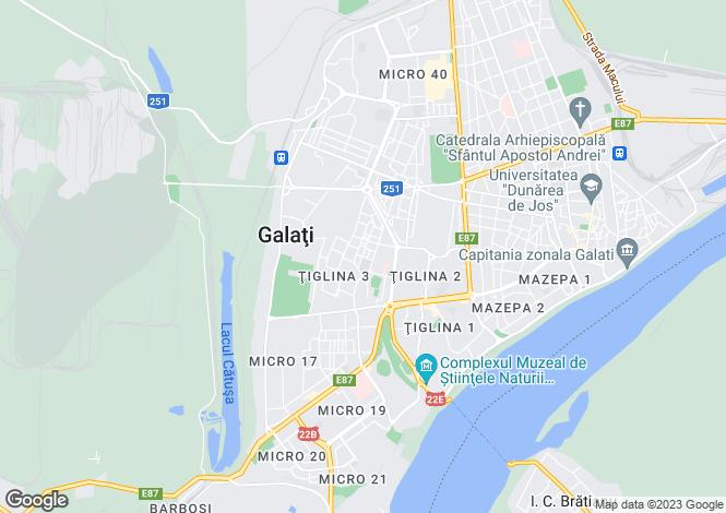 Map for Galati, Vânatori